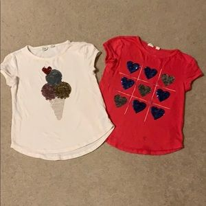 Two sequin flippy t-shirts